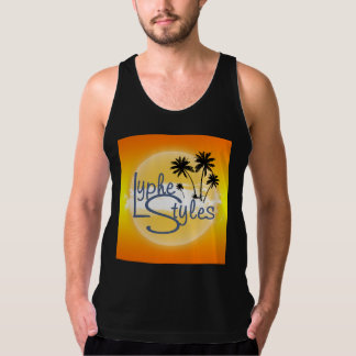 UMOL LypheStyles Logo Palm Trees Men's Tank Top