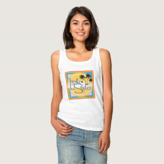 UMOL LypheStyles Logo Palm Trees Womens Tank Top