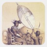 Umpanda el rey del Amazulu, 1849 Pegatina Cuadrada