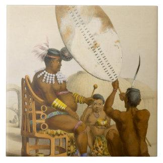 Umpanda el rey del Amazulu, platea 11 del 'Th Azulejo Cuadrado Grande