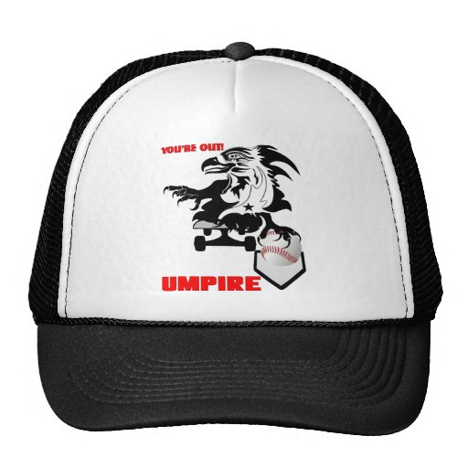 umpire baseball logo 1 trucker hat zazzle