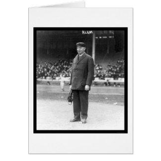 Umpire Bill Klem Baseball 1914 Card