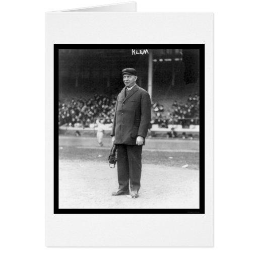Umpire Bill Klem Baseball 1914 Greeting Card