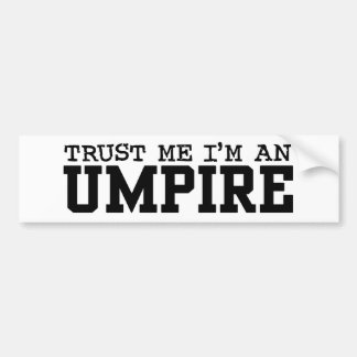 Umpire Bumper Sticker