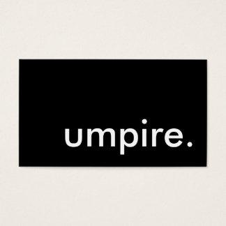 umpire. business card