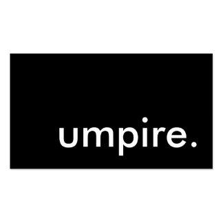 umpire. business cards