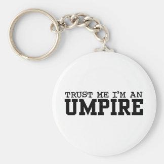 Umpire Basic Round Button Keychain