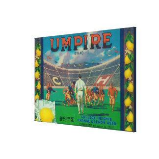 Umpire Lemon LabelClaremont, CA Stretched Canvas Print