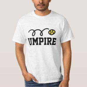 Umpire tennis t-shirt for men women and kids