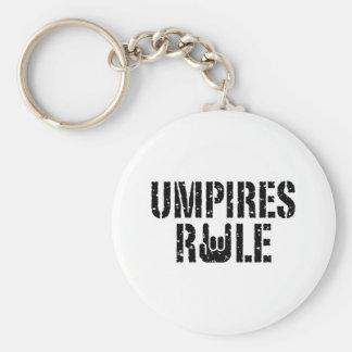 Umpires Rule Basic Round Button Keychain