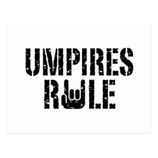 Umpires Rule Postcard