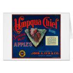 Umpqua Chief Apple Crate LabelSutherlin, OR