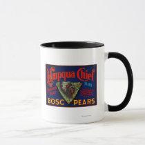 Umpqua Chief Pear Crate LabelSutherlin, OR Mug