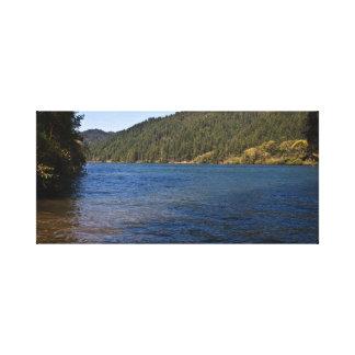 Umpqua River at Brandy Bar Stretched Canvas Print