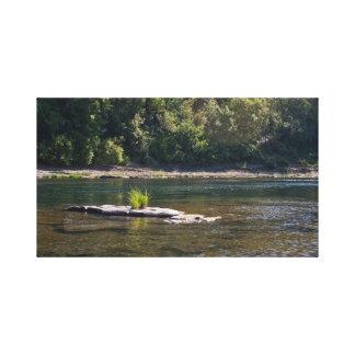 Umpqua River, Elkton Canvas Print