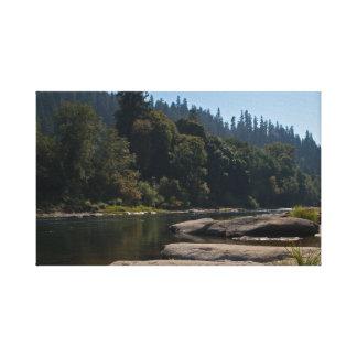 Umpqua River, Oregon Stretched Canvas Print