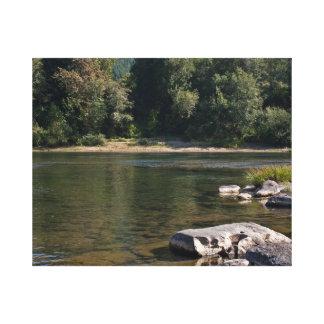 Umpqua River Summer Gallery Wrap Canvas