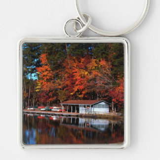 Umstead Boat Dock in Autumn Keychain