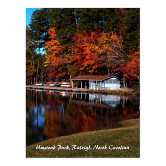 Umstead Boat Dock in Autumn Postcard