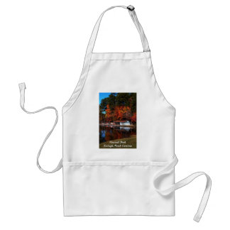 Umstead Boat Dock in Autumn, Text Apron