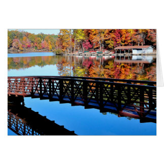 Umstead Park in Autumn Card