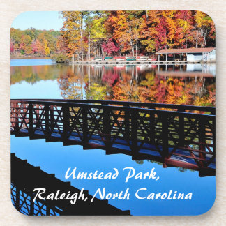 Umstead Park in Autumn Drink Coaster