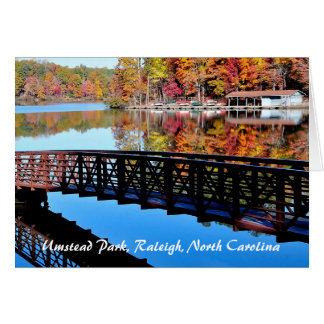 Umstead Park in Autumn Exterior Text Card