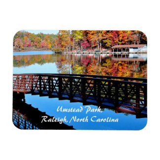 Umstead Park in Autumn Rectangle Magnets