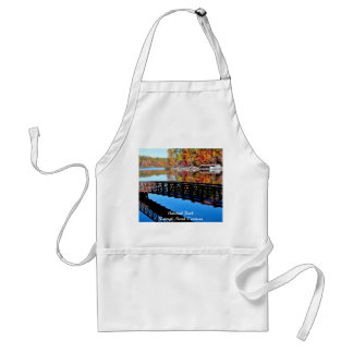 Umstead Park in Autumn Text Apron