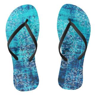 Umsted Design Grungy Pinwheels Flip Flops