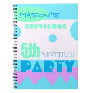 Un 5to Guestbook de la fiesta de cumpleaños del Libretas Espirales