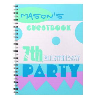 Un 7mo Guestbook de la fiesta de cumpleaños del Cuaderno