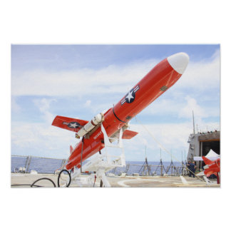 Un abejón de BQM-74E Chukar listo para el lanzamie Poster