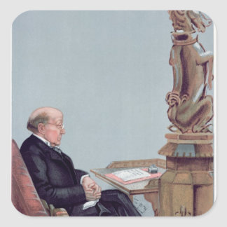 Un abogado escocés calcomanías cuadradas personalizadas