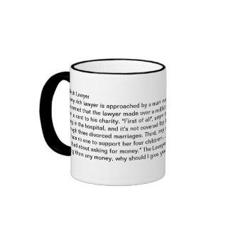 Un abogado rico taza de dos colores