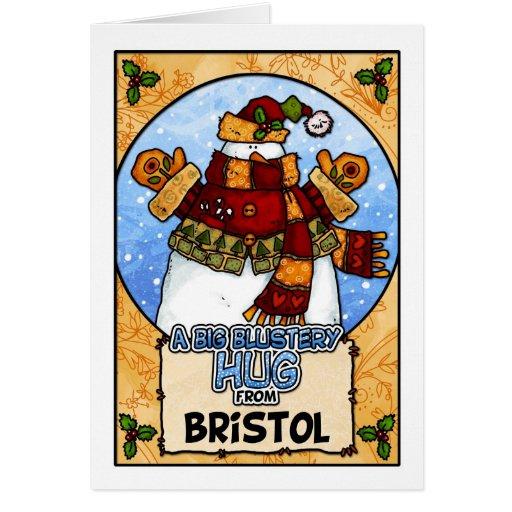 Un abrazo violento grande de Bristol Tarjeta De Felicitación
