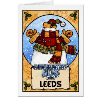 Un abrazo violento grande de Leeds Tarjeta De Felicitación
