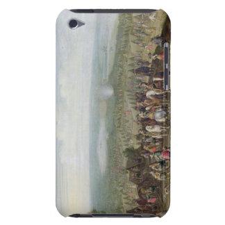 Un acampamento militar con la milicia en caballos, iPod touch Case-Mate carcasas