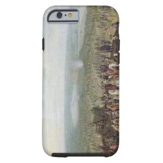 Un acampamento militar con la milicia en caballos, funda de iPhone 6 tough
