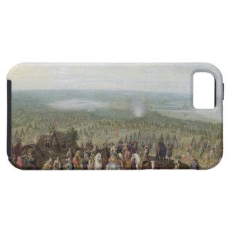 Un acampamento militar con la milicia en caballos, iPhone 5 Case-Mate cárcasa