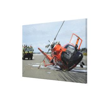 Un accidente de helicóptero del delfín del lienzo envuelto para galerias