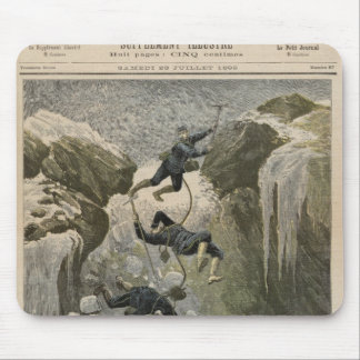 Un accidente terrible en las montañas tapete de ratones