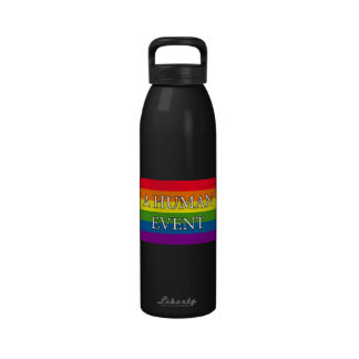 Un acontecimiento humano botella de beber