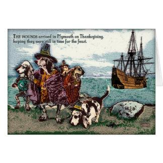 Un afloramiento Thanksgving Tarjeta De Felicitación