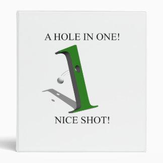 "Un agujero en una pelota de golf carpeta 1"""