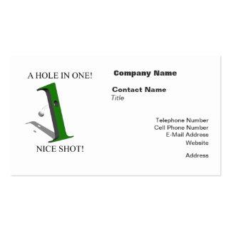Un agujero en una pelota de golf tarjetas de visita