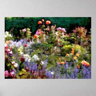 Un alboroto de rosas impresiones