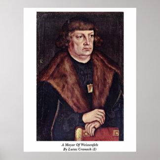 Un alcalde Of Weissenfels By Lucas Cranach (i) Poster