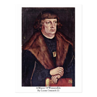 Un alcalde Of Weissenfels By Lucas Cranach (i) Postales