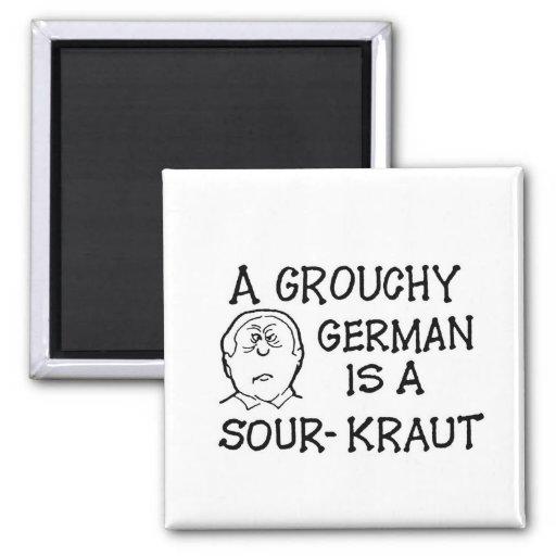 Un alemán malhumorado es un imán Amargo-Kraut
